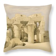 Temple Of Sobek And Haroeris At Kom Ombo Throw Pillow