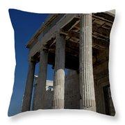 Temple Of The Athena Nike Throw Pillow