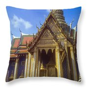 Temple Of The Emerald Buddha Throw Pillow