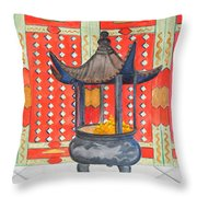 Temple Offerings Throw Pillow