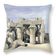 Temple On Nile Throw Pillow