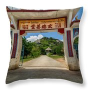Temple On The Hill Throw Pillow