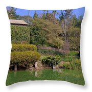 Temple On The Lake Throw Pillow