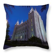 Temple Perspective Throw Pillow by Chad Dutson