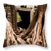 Temple Ruins 01 Throw Pillow