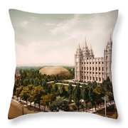 Temple Square Salt Lake City 1899 Throw Pillow