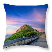 Temple Sunset Throw Pillow