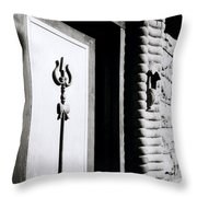 The Temple Trident Throw Pillow