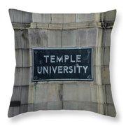 Temple U Throw Pillow