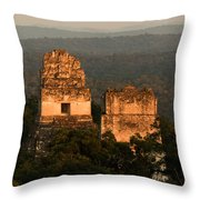 Temples 1 And 2 -  #3 Throw Pillow