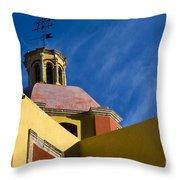 Templo De San Roque, Mexico Throw Pillow