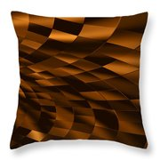 Temporal Chessboard Throw Pillow