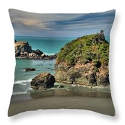 Temporary Island Throw Pillow