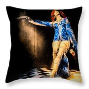 Temptation  Throw Pillow by Bob Orsillo
