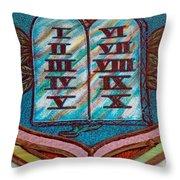 Ten Commandments Glass Throw Pillow