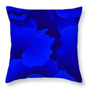 Ten Minute Floral In Blue 122612 Throw Pillow