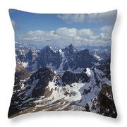 T-703502-ten Peaks From Summit Of Mt. Lefroy Throw Pillow