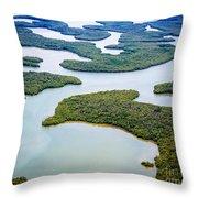 Ten Thousand Islands 12 Throw Pillow