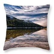 Tenaya Lake Reflections Throw Pillow
