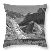 6m6552-bw-tenaya Lake Yosemite Bw  Throw Pillow
