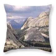 Tenaya Lake Yosemite Throw Pillow