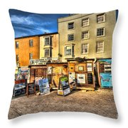 Tenby Boat Trips Throw Pillow