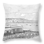 Tenby Old Lifeboat Station Throw Pillow