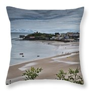 Tenby Panorama 3 Throw Pillow