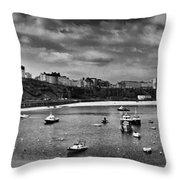 Tenby Panorama Mono 2 Throw Pillow