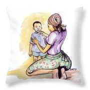 Tender Mother Throw Pillow