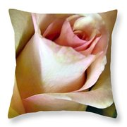 Tender Rose Bud Throw Pillow