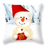 Tender Snowman Throw Pillow