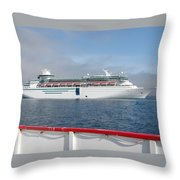 Tendered Ship Throw Pillow