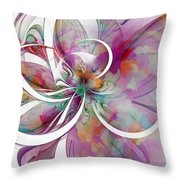 Tendrils 01 Throw Pillow