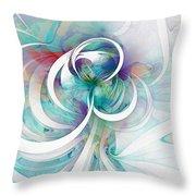 Tendrils 03 Throw Pillow by Amanda Moore