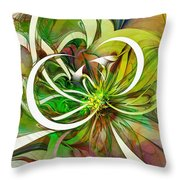 Tendrils 15 Throw Pillow by Amanda Moore