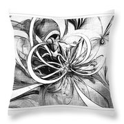 Tendrils In Pencil 02 Throw Pillow