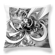 Tendrils In Pencil 03 Throw Pillow