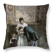Tenement: Doctor, 1889 Throw Pillow