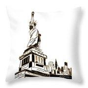 Tenement Liberty Throw Pillow