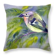 Tenerife Goldcrest Throw Pillow