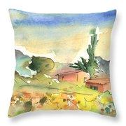 Tenerife Landscape 01 Throw Pillow