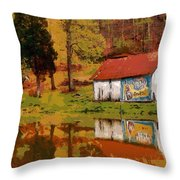 Tennessee Barn Throw Pillow