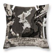 Tennessee Korean War Memorial Throw Pillow by Dan Sproul
