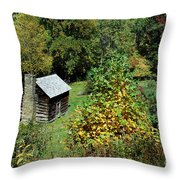 Tennessee Mountain Cabin Throw Pillow