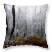 Tennessee Mountain Frost Throw Pillow