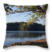 Tennessee River In Knoxville Throw Pillow