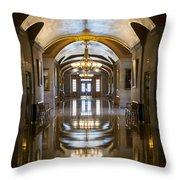 Hallways Throw Pillow