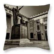 Tennessee War Memorial Black And White Throw Pillow