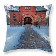 Tenney Memorial Library Newbury Vermont Throw Pillow
